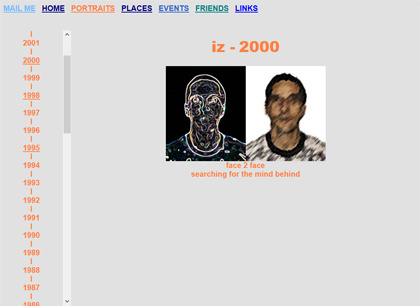 PORTRAITS-WEBSEITE 2001